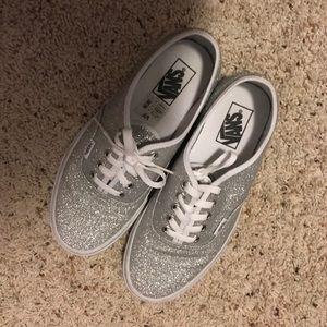 Silver Glitter Vans
